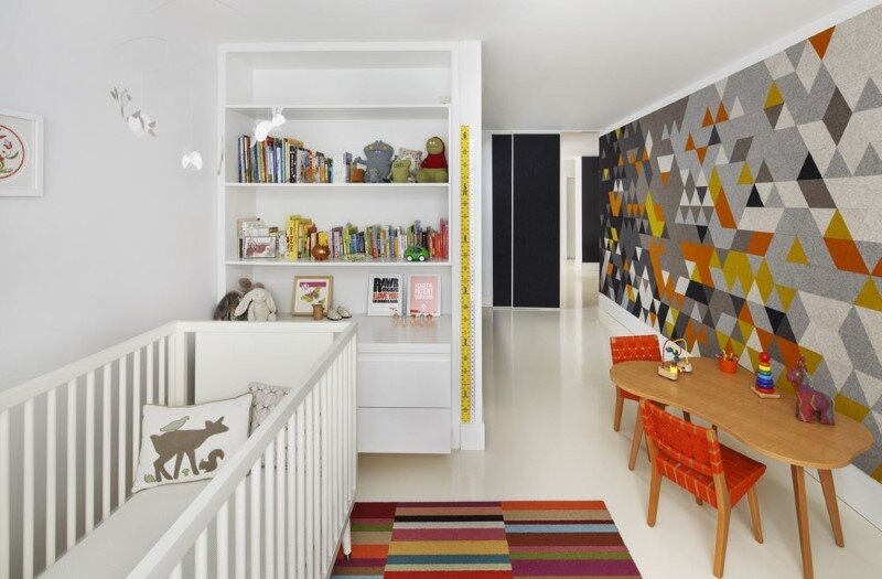 Harrison Avenue apartment with a colorful panelized felt wall (7)