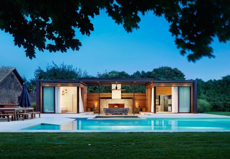 Lavish pool and spa retreat with a stunning wood and steel structure (5)