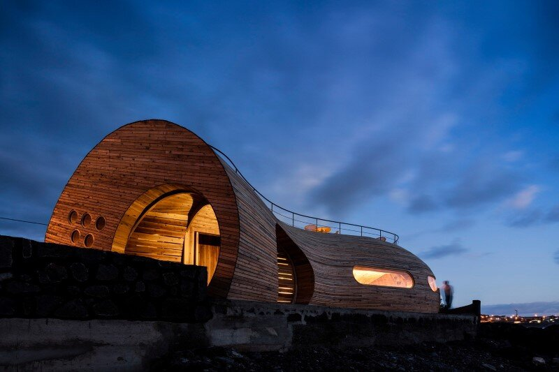 Organic Architecture that Look like a Giant Sculpture Cella Bar (7)