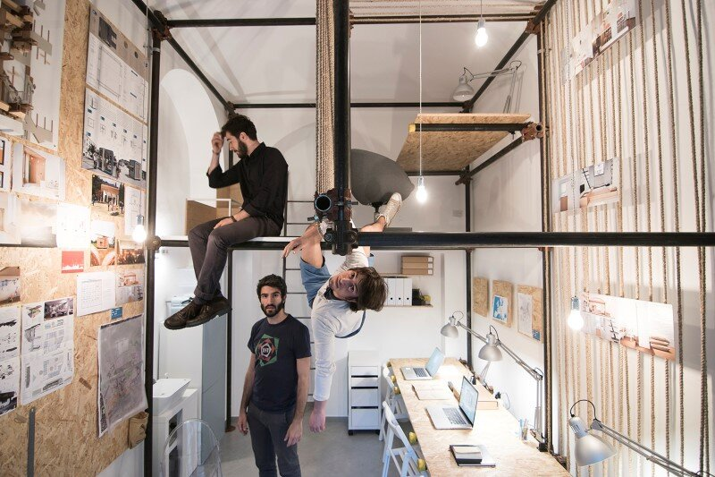 R3architetti Have Transformed a Small Atelier of 14 sqm in Their Own Creating Space (2)