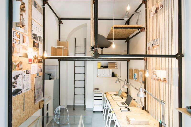 R3architetti Have Transformed a Small Atelier of 14 sqm in Their Own Creating Space (8)