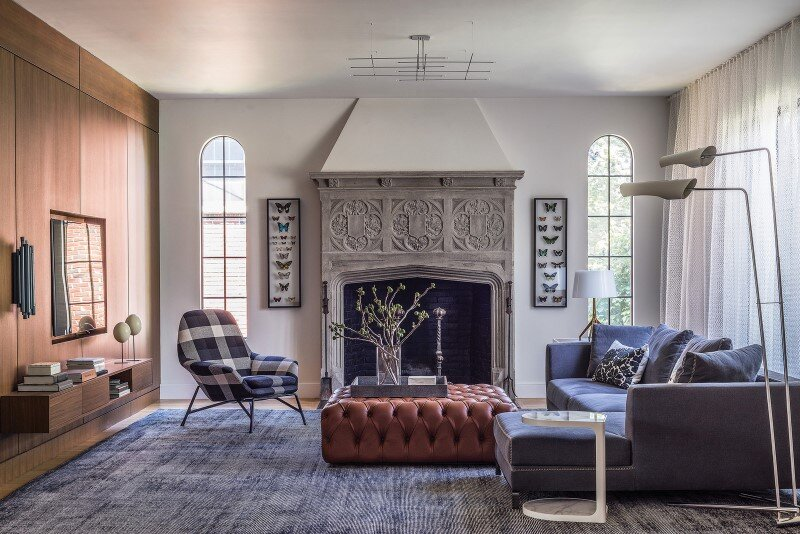 Redesign of 1932 Tudor style suburban home in Newton, Massachusetts (5)