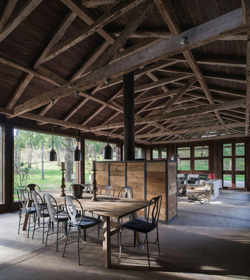 Shed house at Lake Ranco - recycled and converted old barn materials in summer cottage (12)