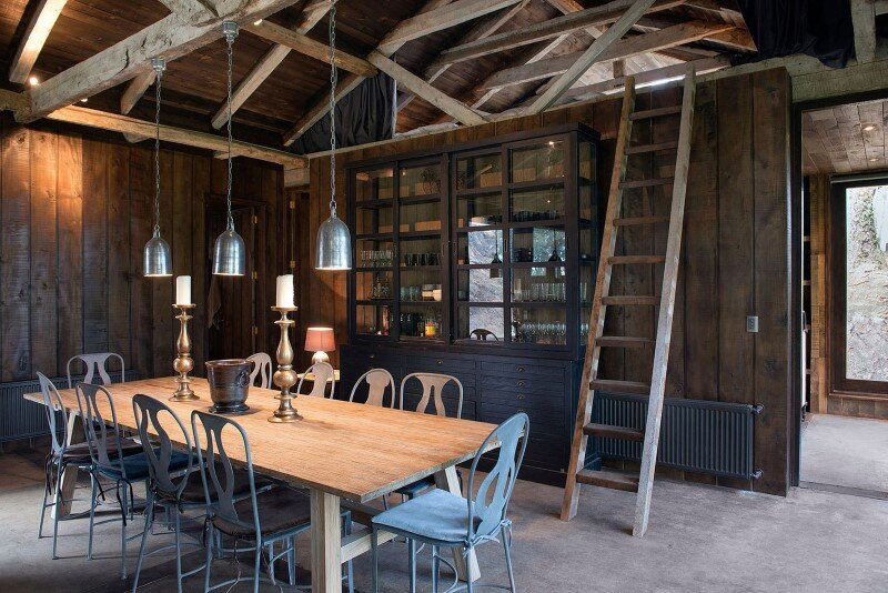 Shed house at Lake Ranco - recycled and converted old barn materials in summer cottage (7)