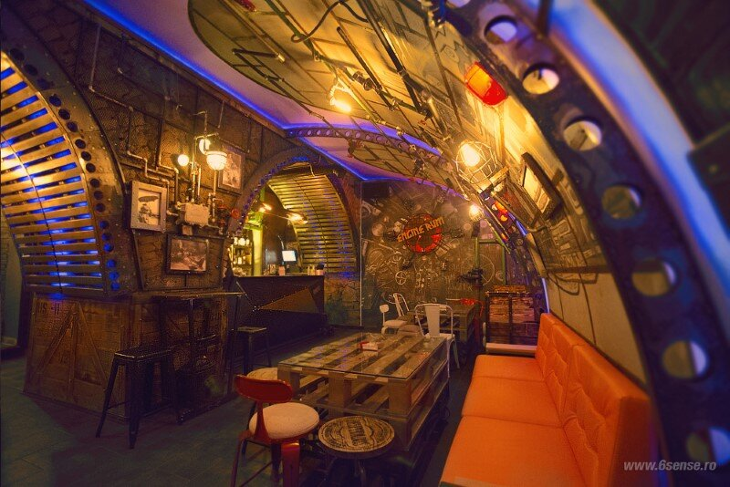 Submarine Pub Designed in Industrial Style with Steampunk Features (1)