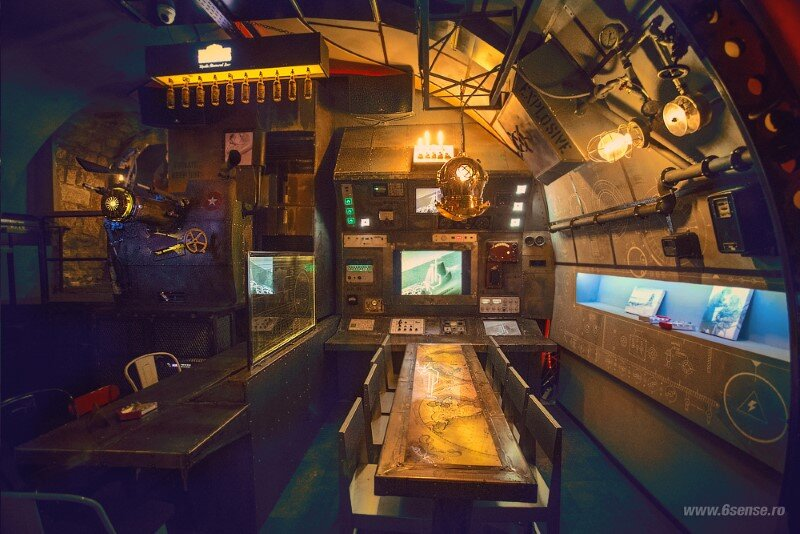 Submarine Pub Designed in Industrial Style with Steampunk Features (12)