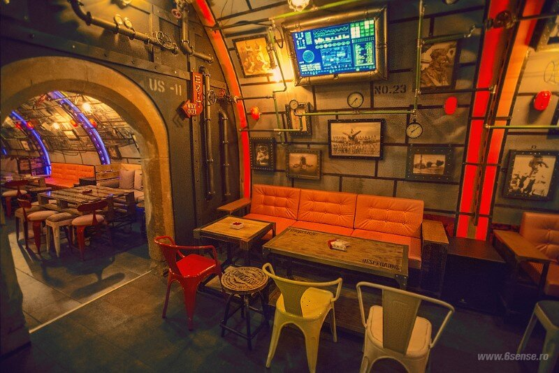 Submarine Pub Designed in Industrial Style with Steampunk Features (14)