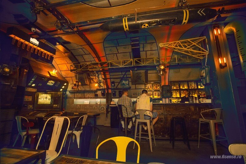 Submarine Bar Designed in Industrial Style with Steampunk Features (18)