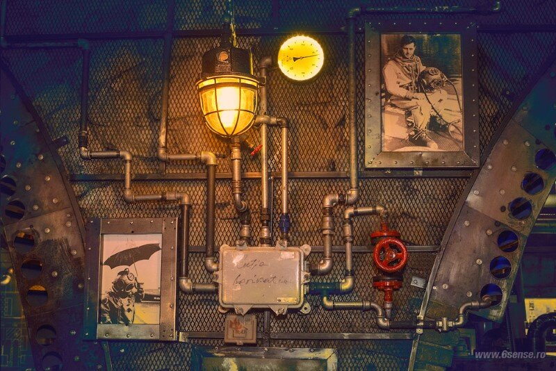 Submarine Pub Designed in Industrial Style with Steampunk Features (7)