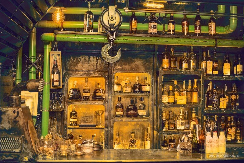 Submarine Pub Designed in Industrial Style with Steampunk Features (8)
