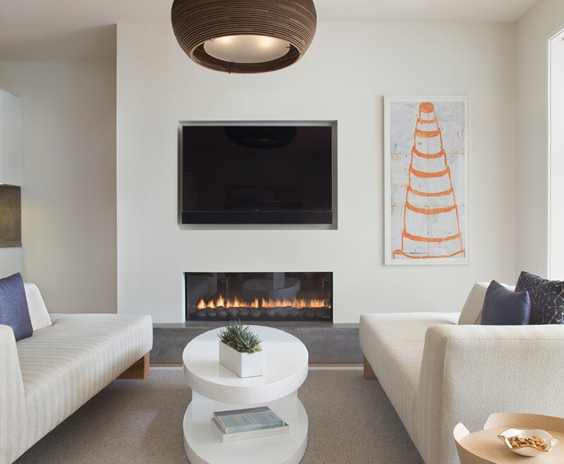 fireplace, living room, Rowland+Broughton Architecture