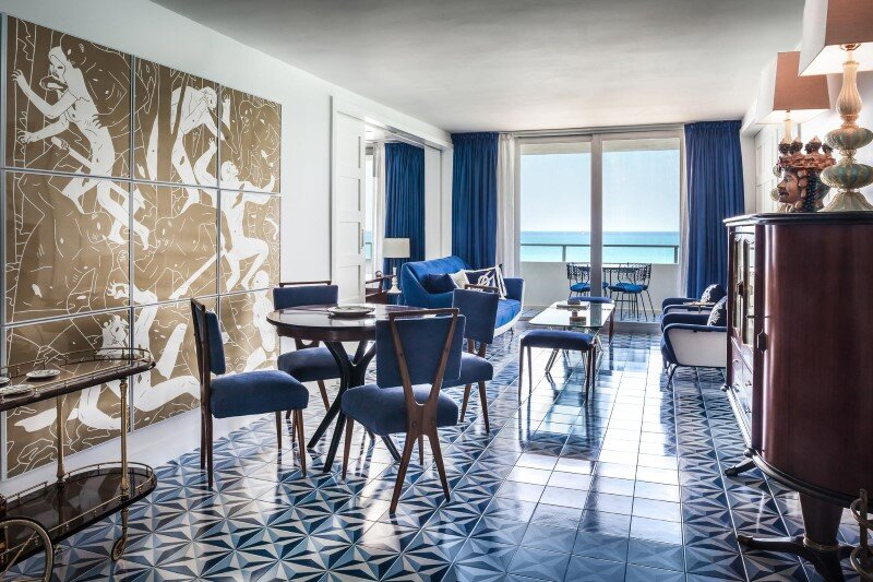 Two bedroom apartment renovation Miami Beach Residence by Luca Andrisani Architect (9)