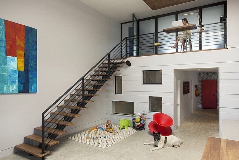 Two story loft with a fresh new look conceived by ZeroEnergy Design (5)