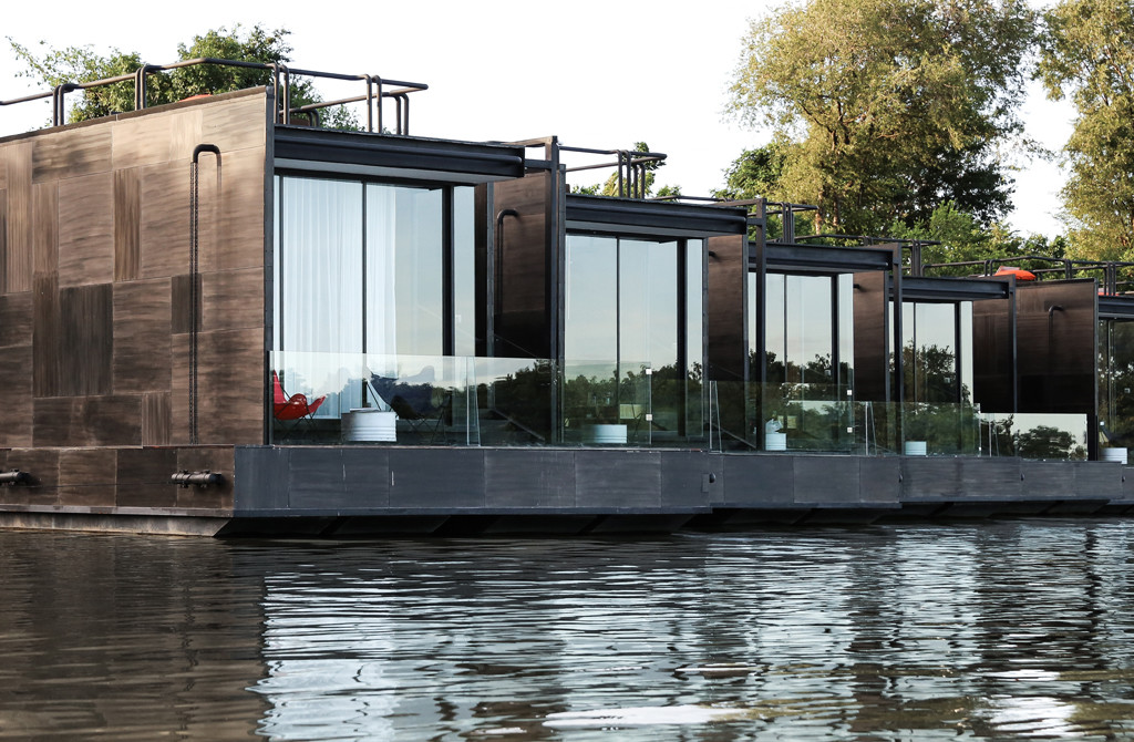 Agaligo Studio have designed - X-Float - a series of floating homes on the River Kwai Bridge, Thailand (3)