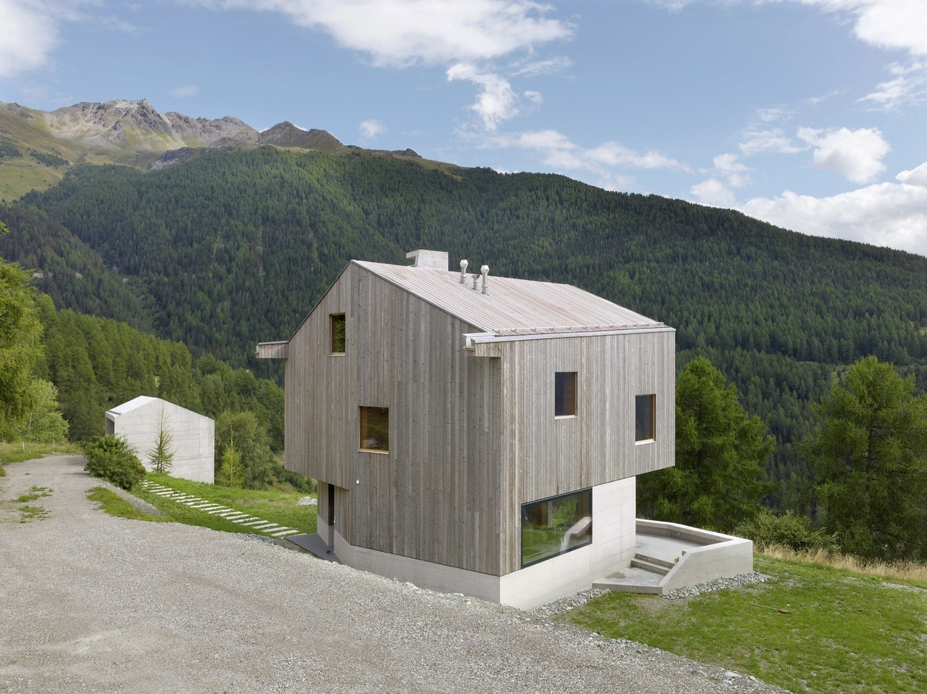 Concrete Cottage Covered with Wood Cladding in the Val d'Hérens (2)