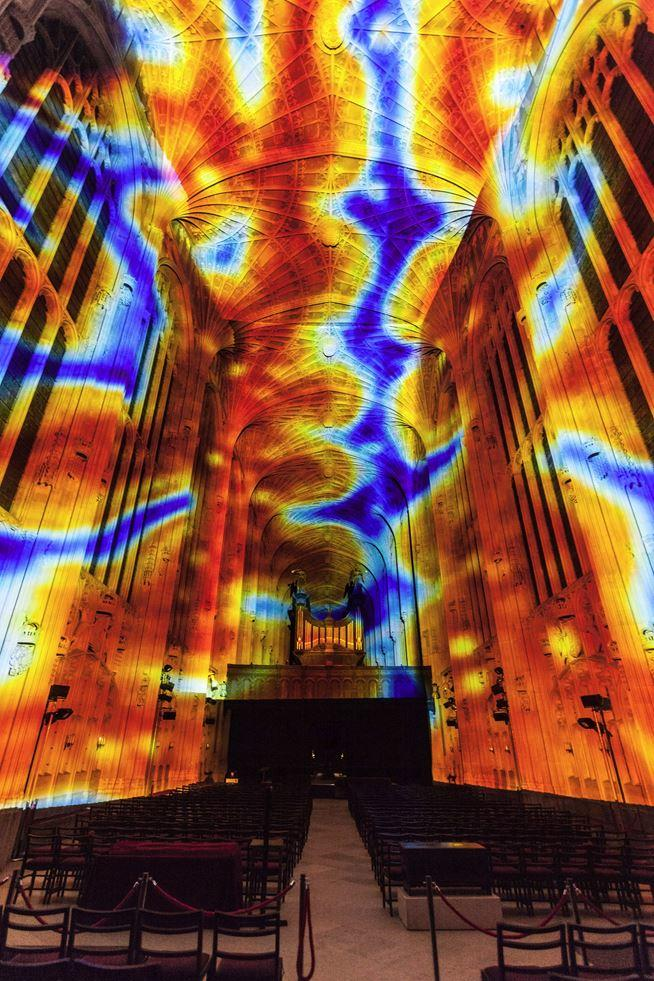 Immersive Projections in King's College Chapel, University of Cambridge (2)