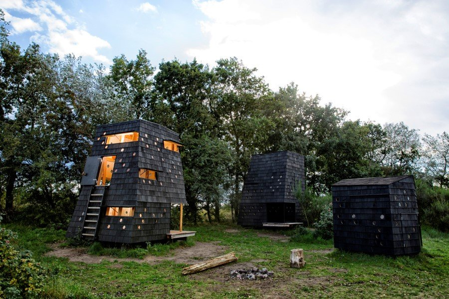 Wooden Shelters and Campsites on the Danish Coast (4)