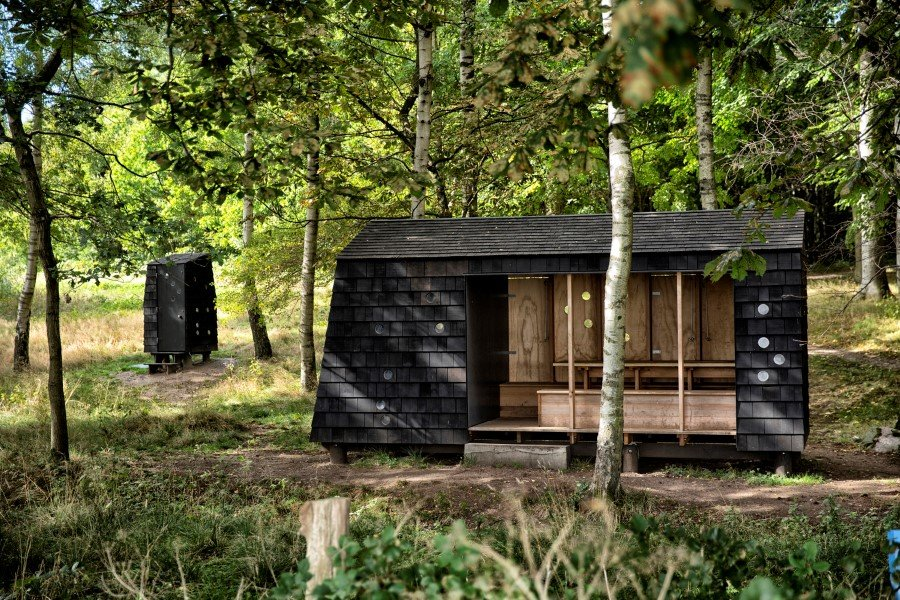 Wooden Shelters and Campsites on the Danish Coast (7)