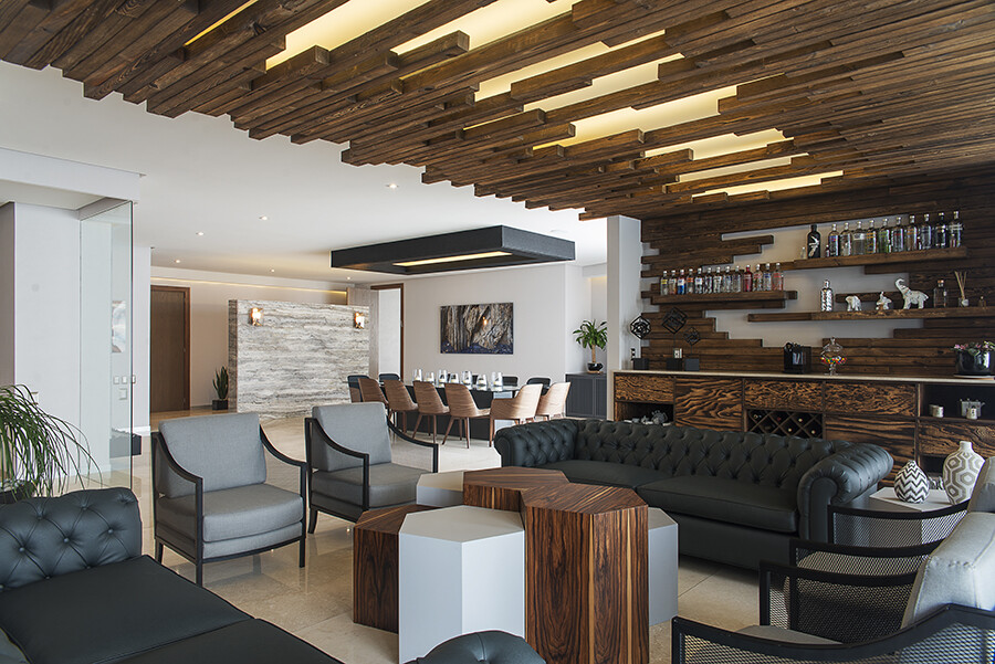 Modern Interiors KG Apartment Uses a Neutral Color Palette with Earth Tones (2)