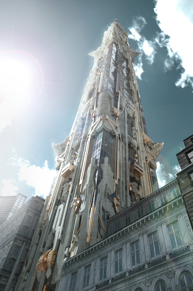 Stunning New York Skyscraper with Highly Decorative Carved Stone Facade (3)