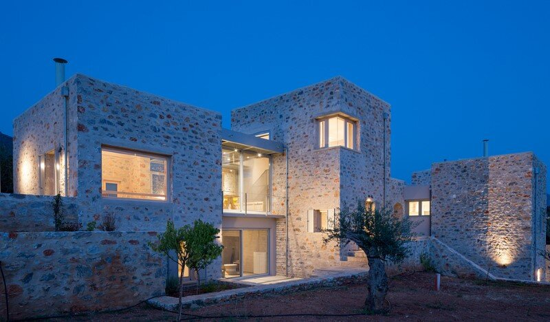 Greek Villa Elements of the Historic Houses into a Modern Context (5)