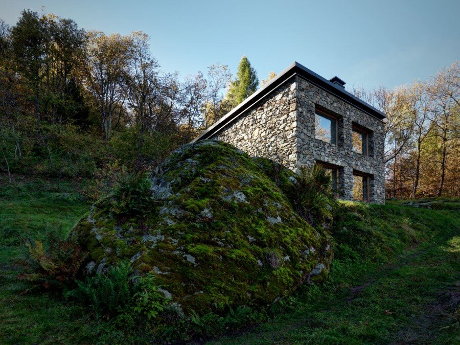 House VI Old Ruin Transformed into a Spectacular Mountain Residence (1)
