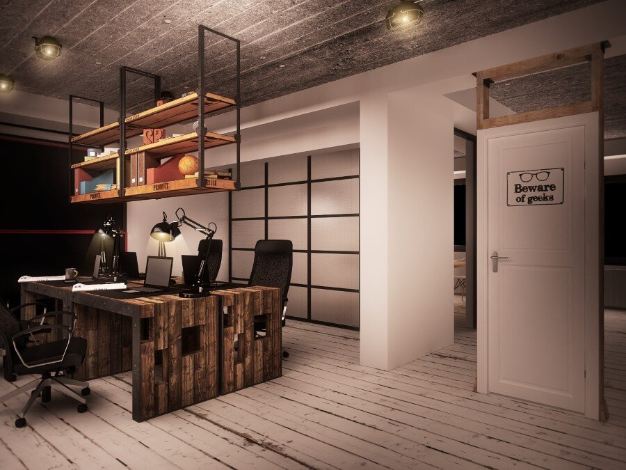 IT Office industrial style interiors designed by Ezzo Design (2)