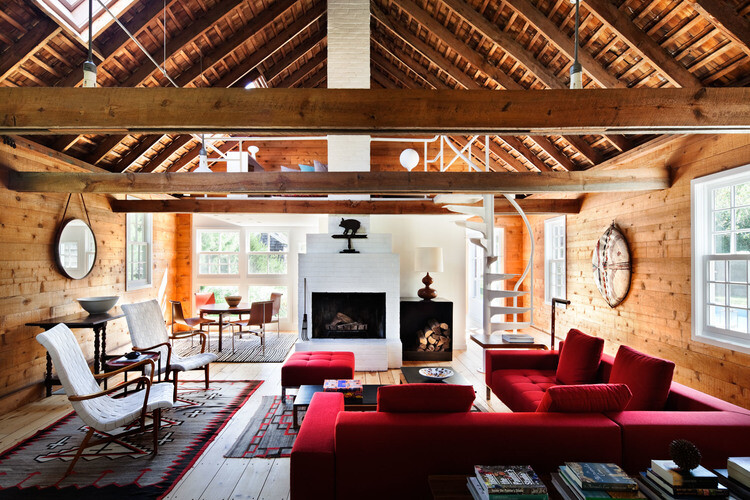 Sagaponack House - Created by Connecting Three 19th Century Barns (5)