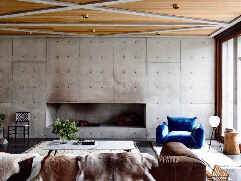 Torquay house captivating combination of concrete and warm wood (3)