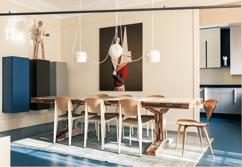 French Metal Rack Renovation of Family Apartment in Paris (2)
