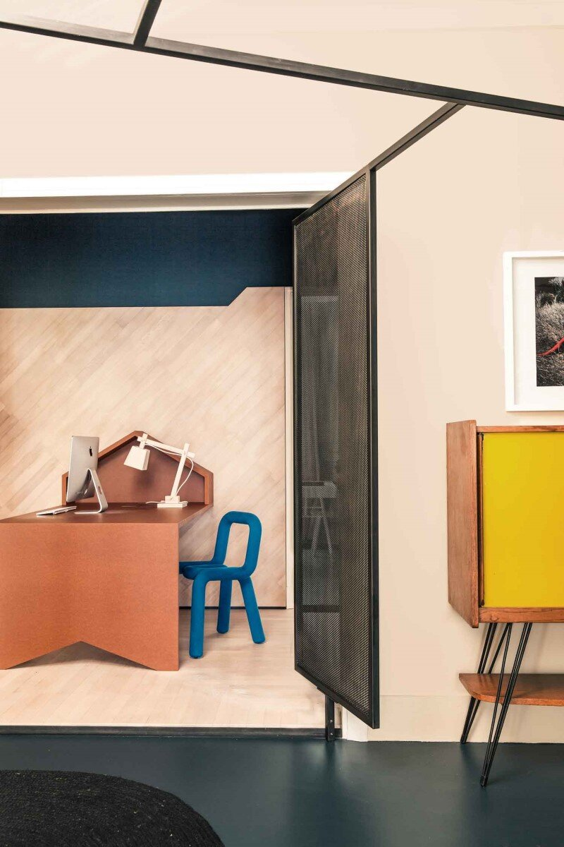French Metal Rack Renovation of Family Apartment in Paris (9)