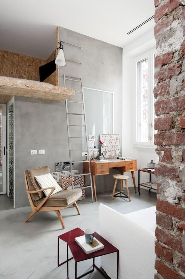 30 sqm Loft Refurbished in Milano (1)