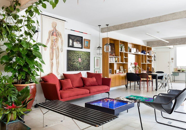 Stylish Brazilian Flat Displaying an Inspiring Eclectic Design (19)