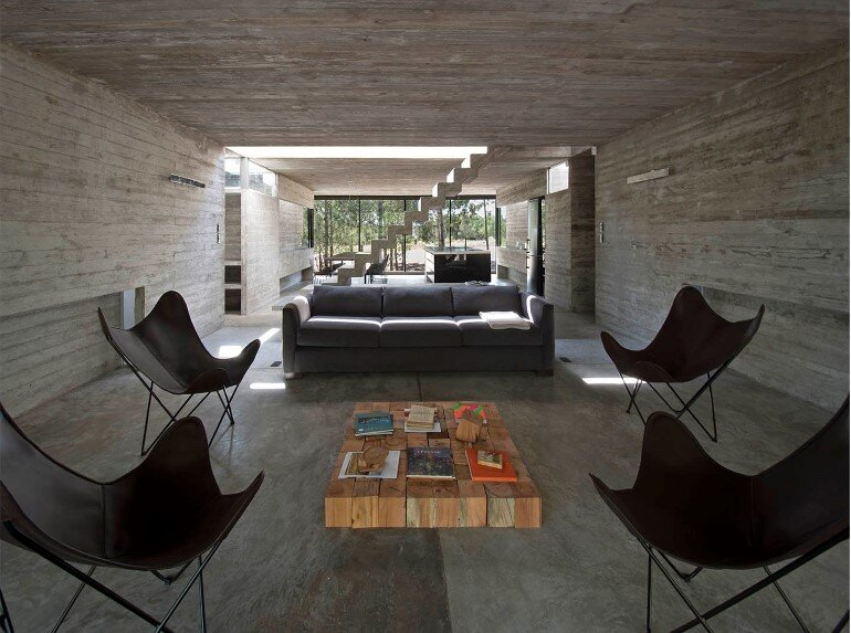 Concrete Holiday Retreat in Argentina by Luciano Kruk (13)