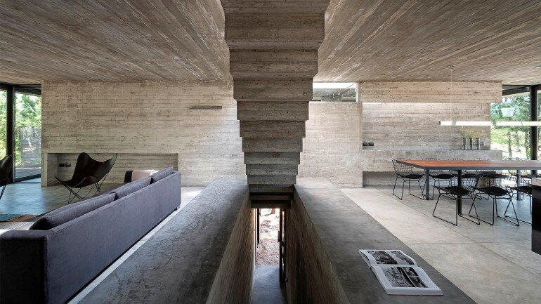 Concrete Holiday Retreat in Argentina by Luciano Kruk (5)