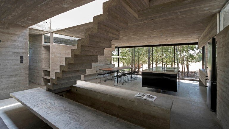 Concrete Holiday Retreat in Argentina by Luciano Kruk (6)