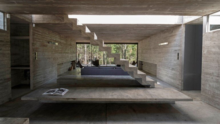 Concrete Holiday Retreat in Argentina by Luciano Kruk (7)