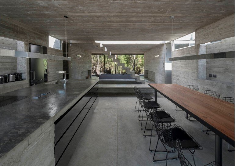 Concrete Holiday Retreat in Argentina by Luciano Kruk (8)