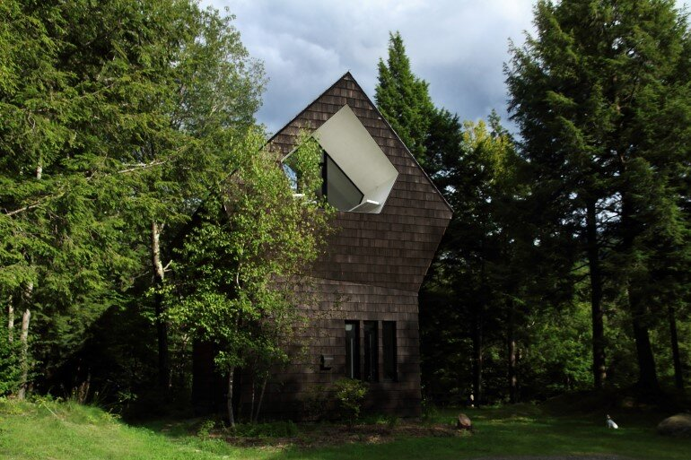 La Colombière Is A Refuge Perched In The Forest Reminding Us Of Bird Huts (11)