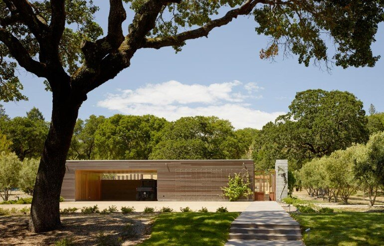Net-Zero House Designed for OutdoorIndoor Summer Living - Sonoma Residence (13)