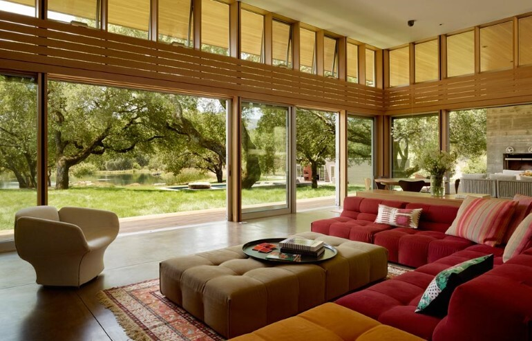 Net-Zero House Designed for OutdoorIndoor Summer Living - Sonoma Residence (5)
