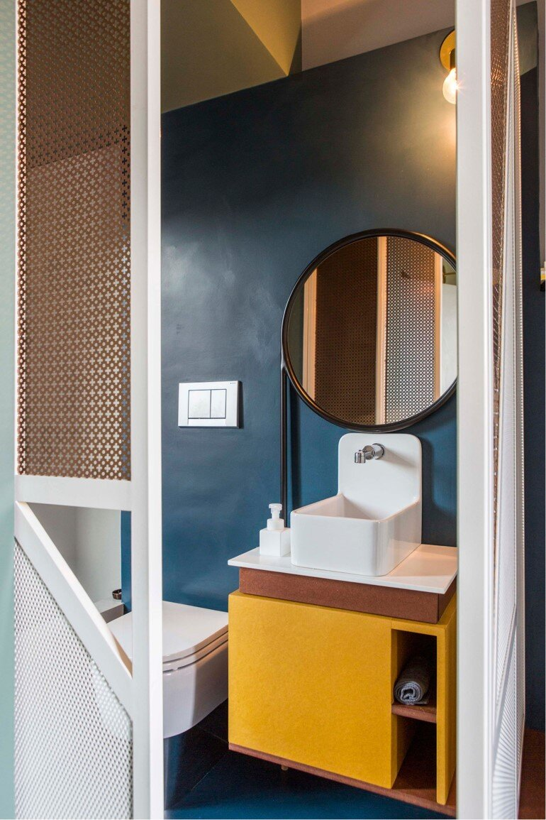Promenade Apartment - Yellow and Gray Colors Give a True Retro Touch (12)