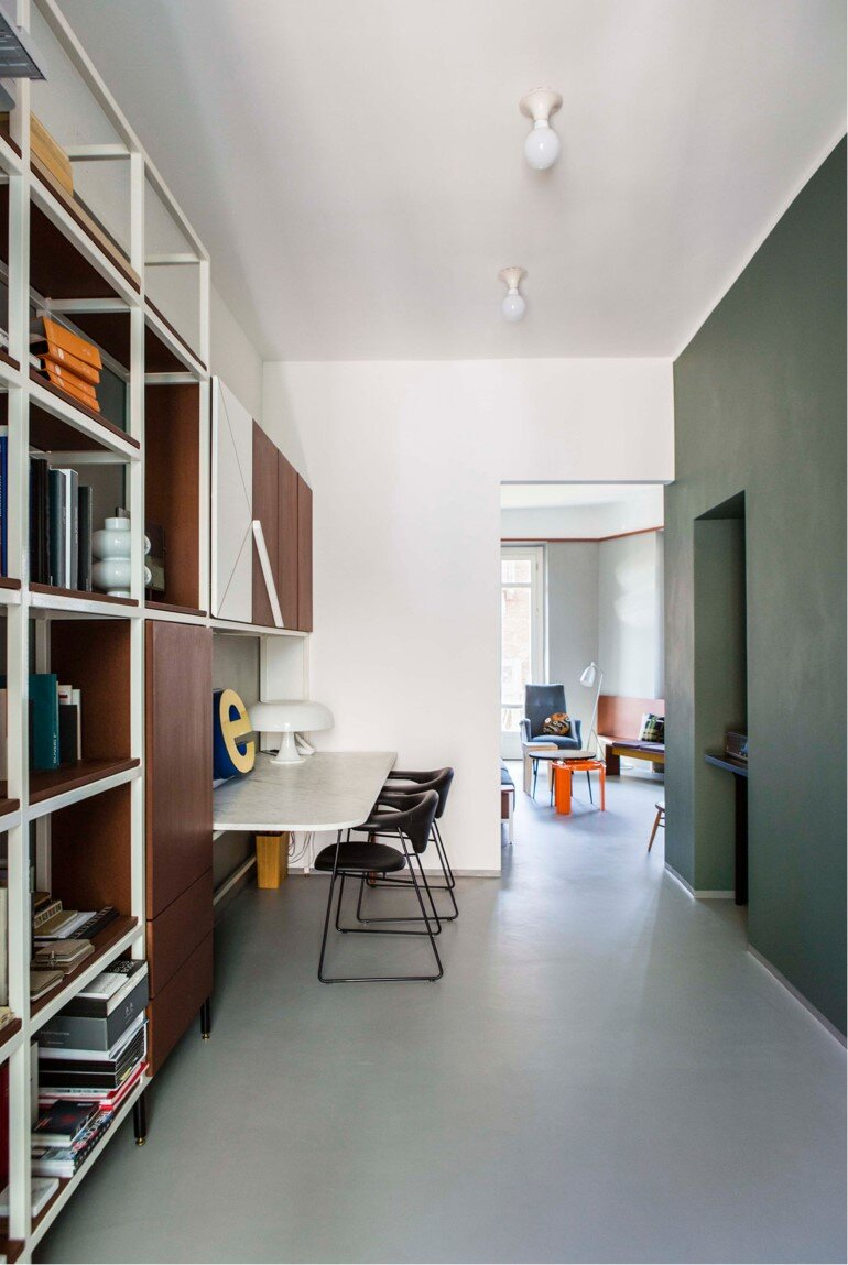Promenade Apartment - Yellow and Gray Colors Give a True Retro Touch (14)