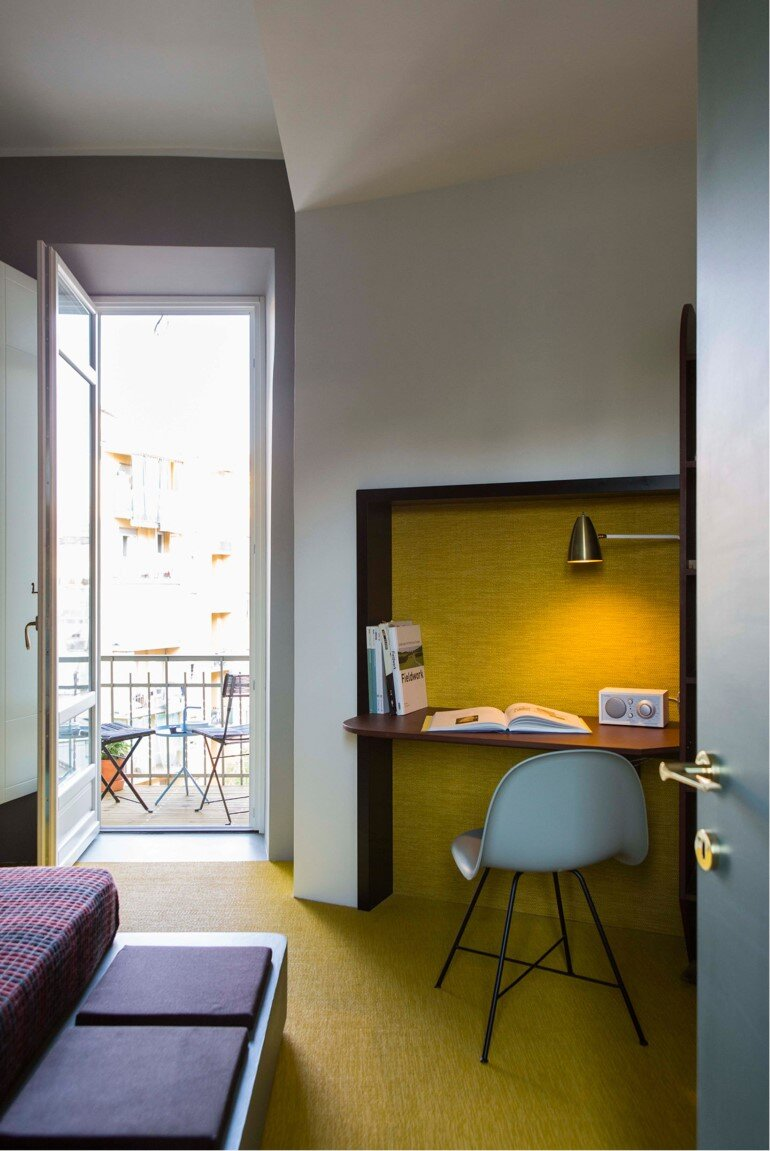 Promenade Apartment - Yellow and Gray Colors Give a True Retro Touch (2)