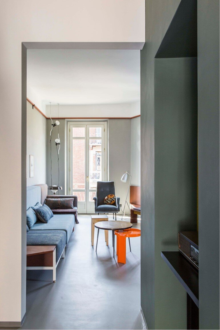 Promenade Apartment - Yellow and Gray Colors Give a True Retro Touch (5)