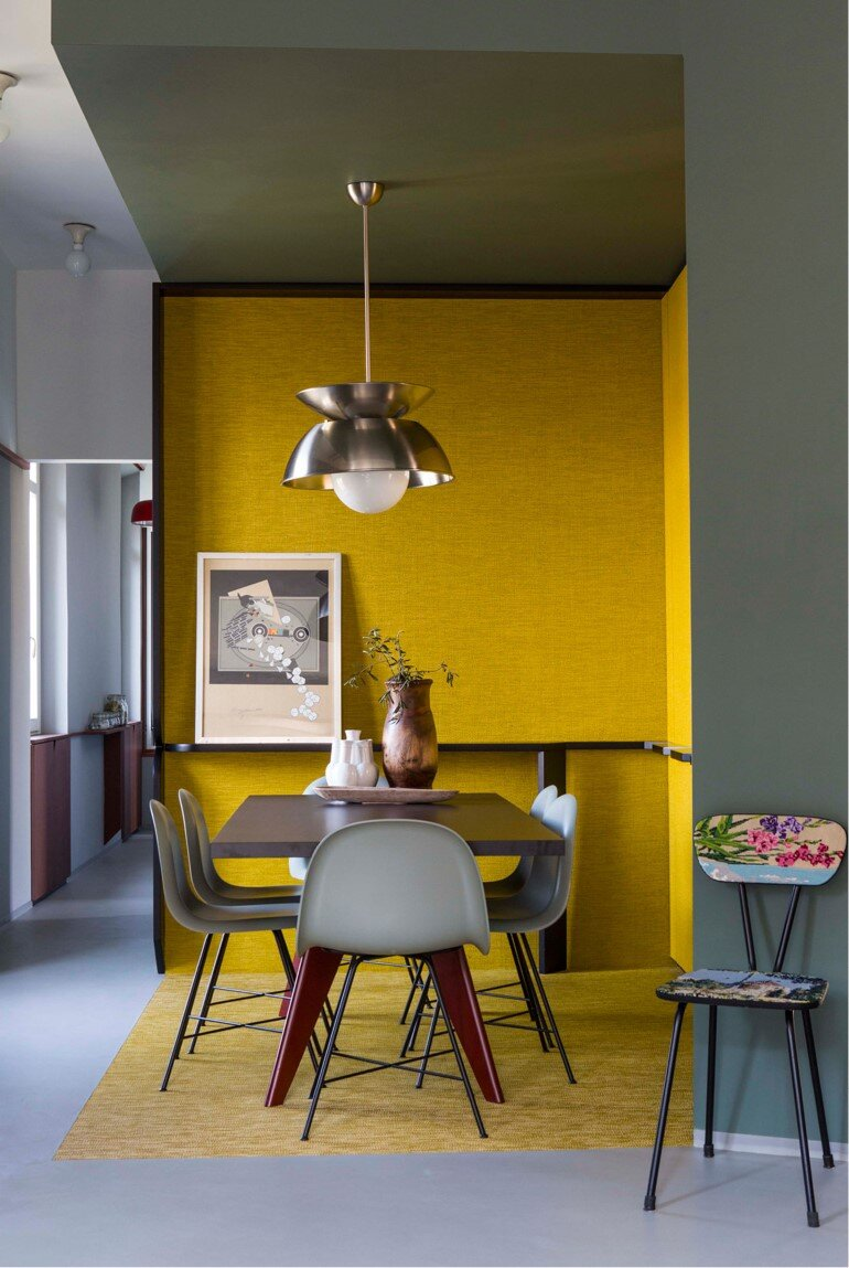 Promenade Apartment - Yellow and Gray Colors Give a True Retro Touch (8)