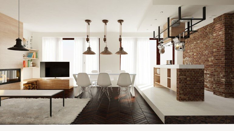 Two Apartments Merged In An Industrial Style (1)