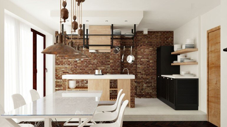 Two Apartments Merged In An Industrial Style (3)