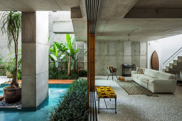 Concrete Weekend House in Downtown São Paulo (15)