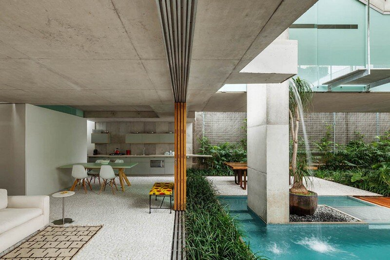 Concrete Weekend House in Downtown São Paulo (8)
